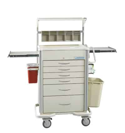 Select Series 6 Drawer Locking Anesthesia Cart - SAP-B Package