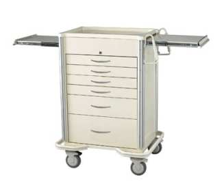 Select Series 6 Drawer Locking Anesthesia Cart - Key Lock
