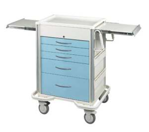 Select Series 5 Drawer Locking Anesthesia Cart - Key Lock