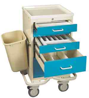 5 Drawer Anesthesia Mini Tower with Key Lock - TTV-PK
