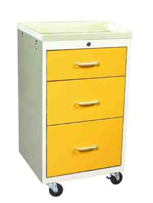 3 Drawer Mini Isolation Cart