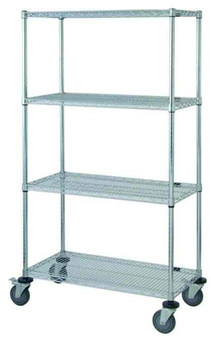 Wire Storage - Four Shelf Wire Mobile Cart