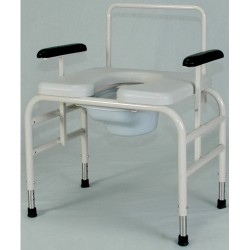 Height Adjustable Bariatric Commodes