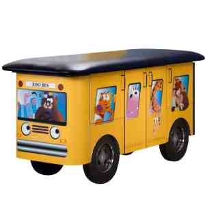 Zoo Bus with Jungle Friends Pediatric Treatment Table