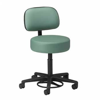 Foot Activated Hands-Free Stool with Backrest