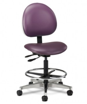 Lab Stool with Contour Seat and Backrest