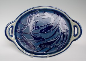 Sgraffito Herring Run Platter