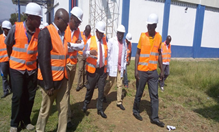 KEMSA CEO Dr. Jonah Manjari with a section of senior management took over the KEMSA Kisumu Distribution Centre .