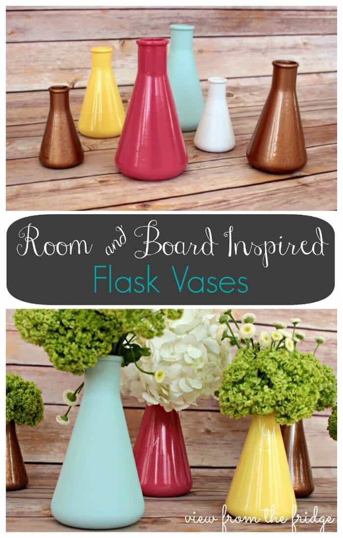 Room and Board Inspired Flask Vases at View from the Fridge in the Summer Spotlight