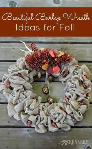Fall Burlap Wreaths: 3 Beautiful DIY Craft Ideas - Kenarry: Ideas for the Home