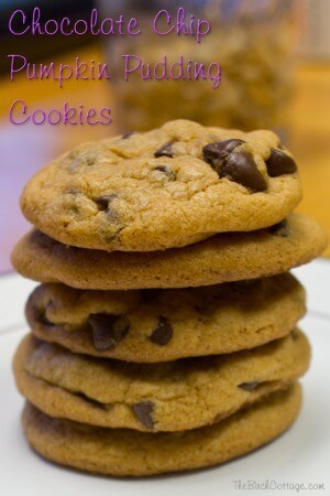 Chocolate Chip Pumpkin Pudding Cookies - The Birch Cottage