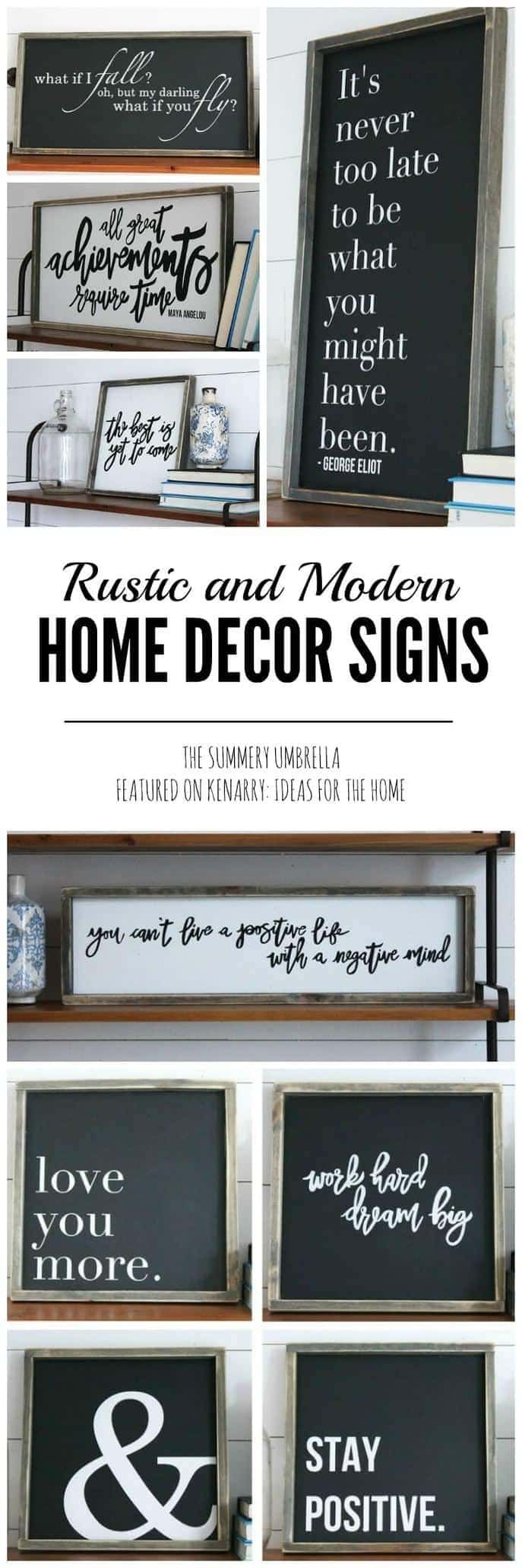 Rustic and Modern Home Decor Signs + Giveaway on Home Wall Decor Signs id=54677