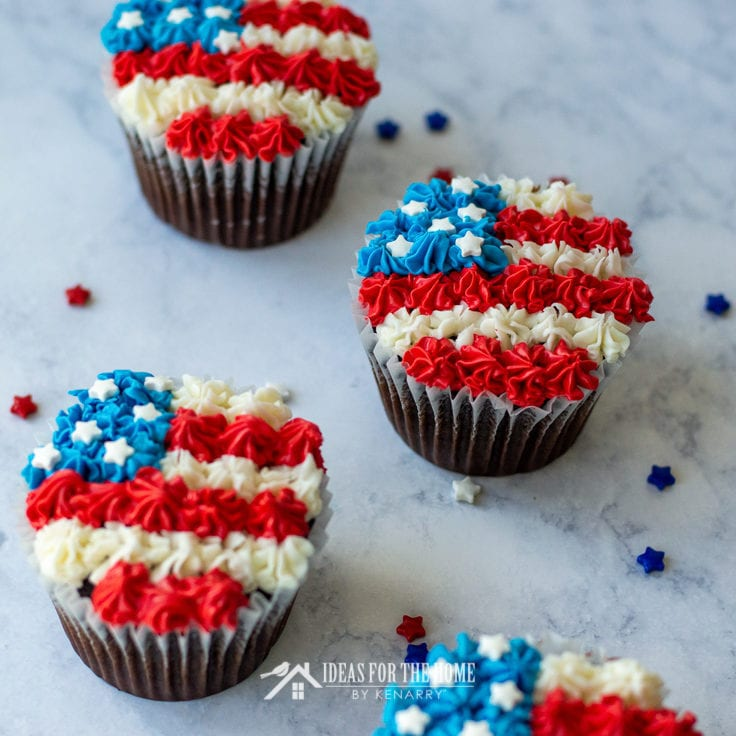 American Flag Cake Ideas Fourth Of July Cupcakes Ideas For The Home