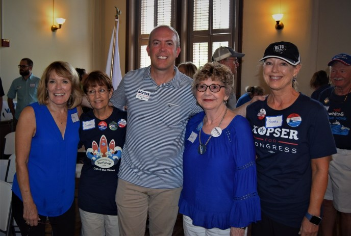 TX-21 Candidate Joseph Kopser with Kendall County Democrats.