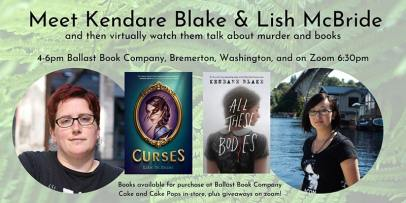 banner of event with Lish McBride