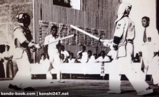 A shinai-kyogi competition from 1954.