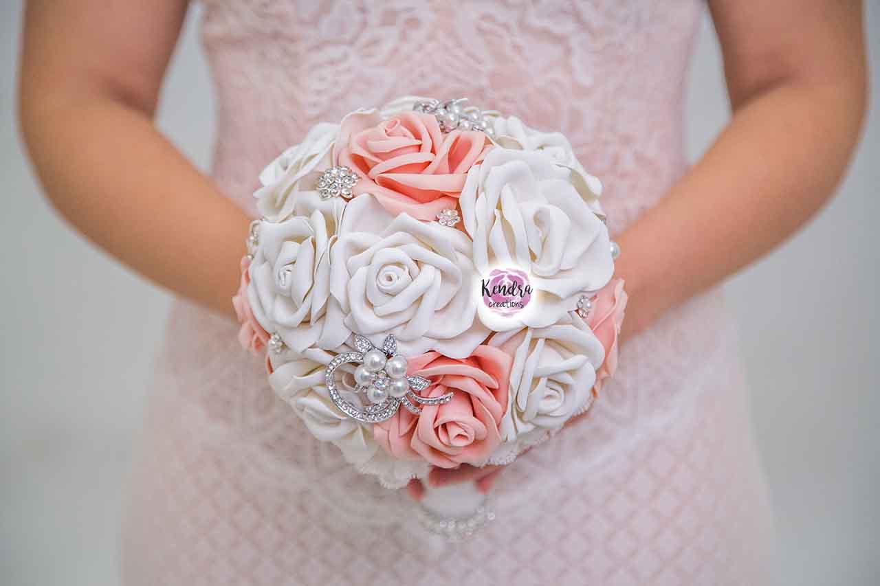 Bouquet rosa e bianco