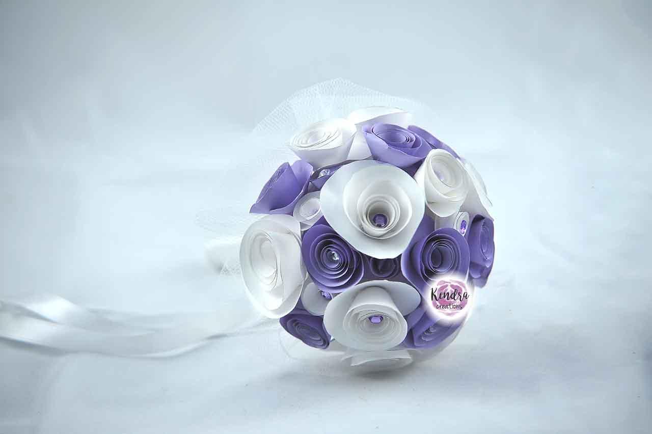 bouquet prima comunione lilla