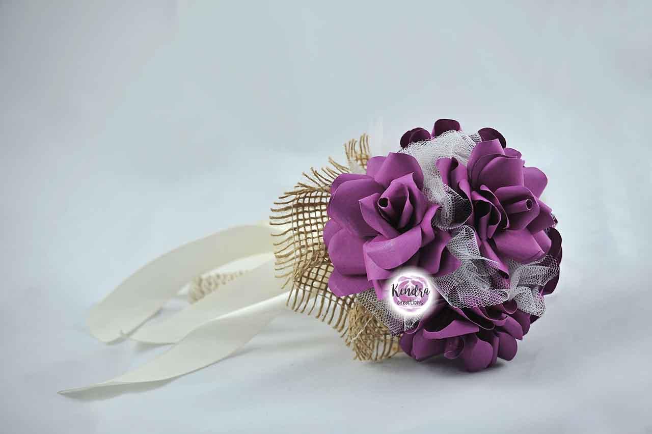 bouquet prima comunione rose carta