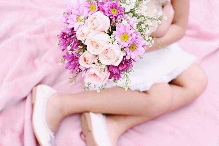 3 bouquet per la prima comunione con fiori di carta