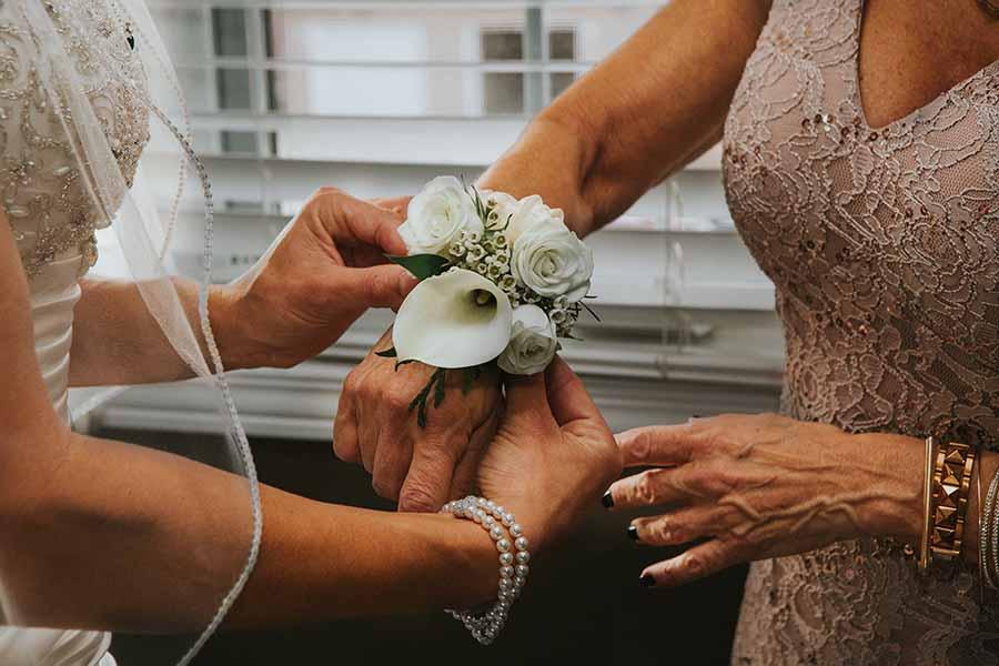 corsage mamma della sposa