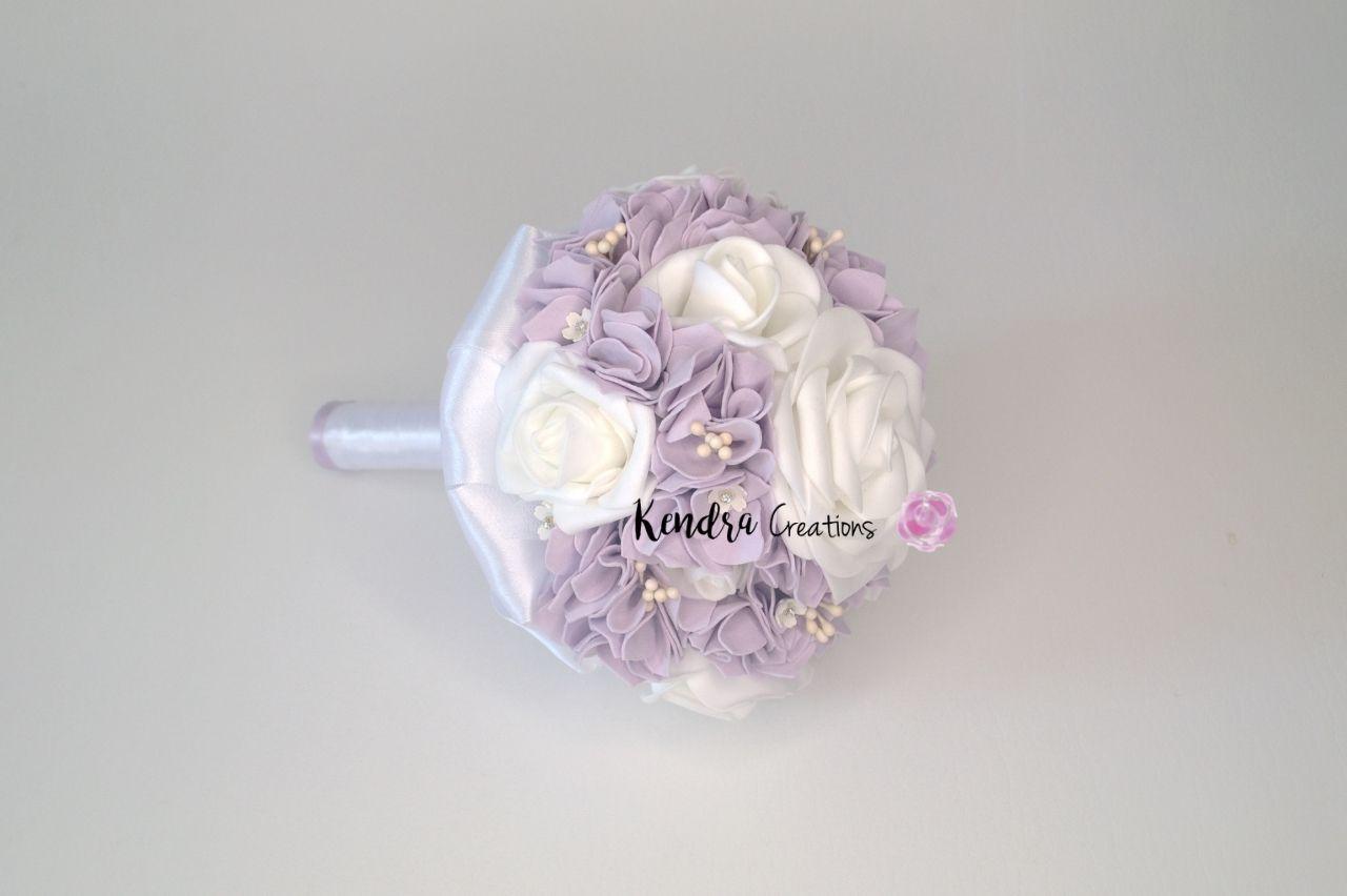 Bouquet comunione lilla