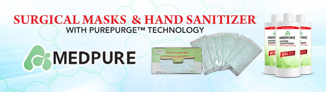 MedPure Surgical Mask and Hand Sanitizer