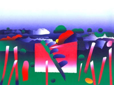 jazz on a summers day silkscreen construction print by ken falana