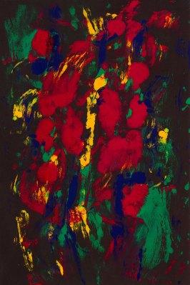 colorful monoprint abstract dancer monoprint by artist Ken Falana, $4000