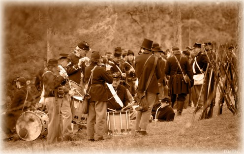 Fife and Drums sepia