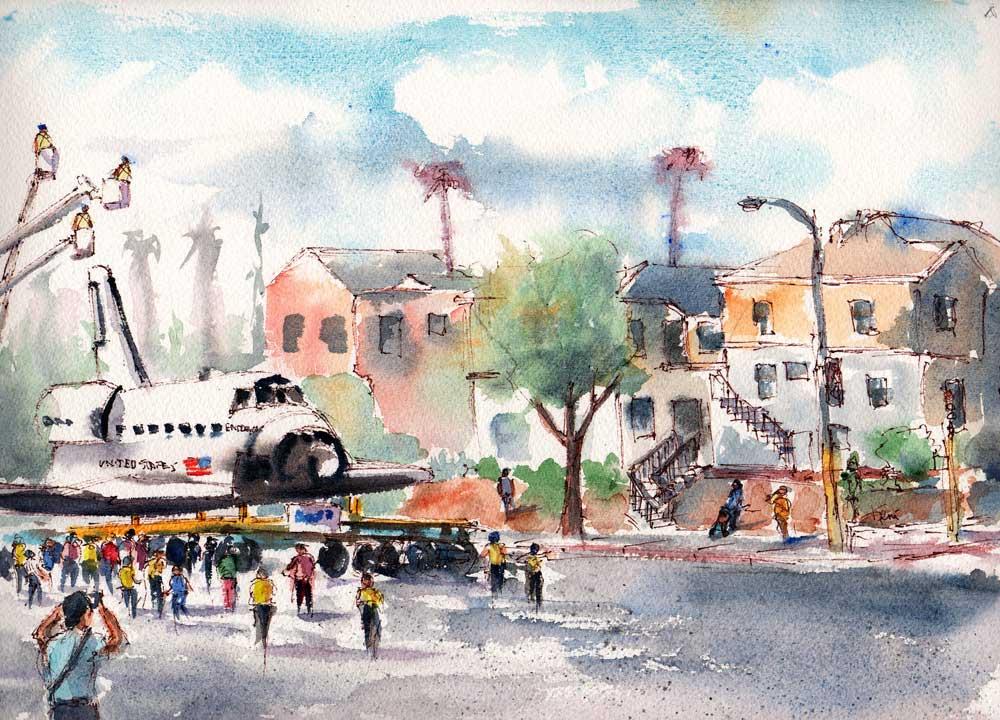 Space Shuttle Endeavor En Plein Air