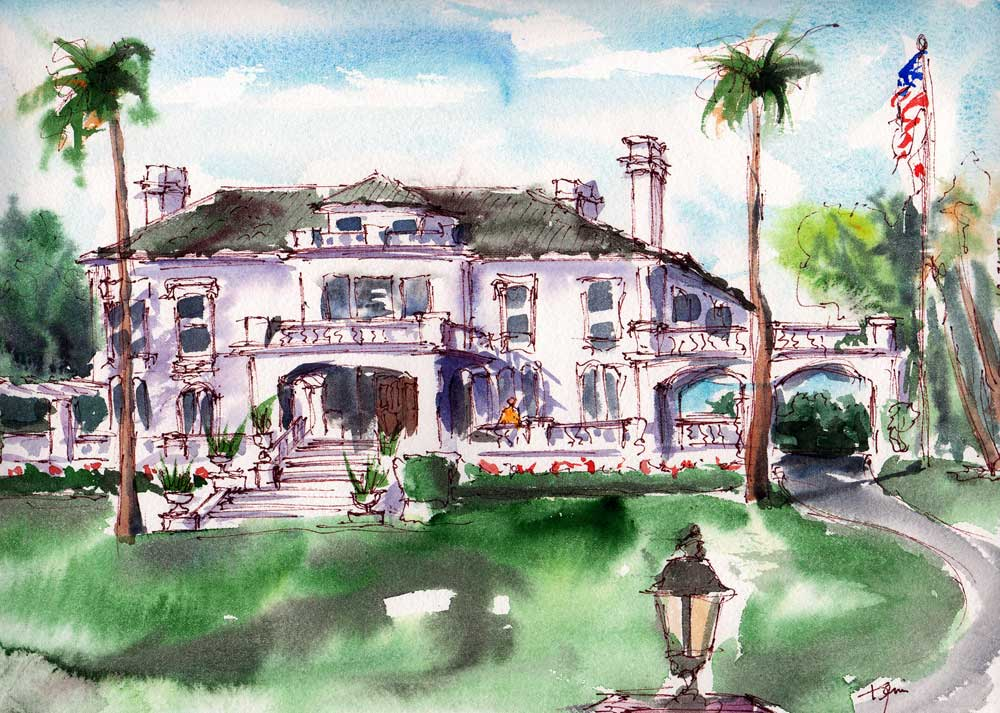 Tournament of Roses Headquarters, Wrigley Mansion – En Plein Air