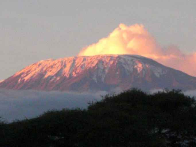 Nationalpark Sonnenaufgang Kilimandscharo