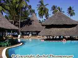 Hotel Neptune Paradise **** am strand in Diani Beach Kenia.