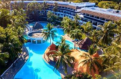 Luftaufnahme- Hotel southern palms 4 sterne diani kenia am Indischer Ozean