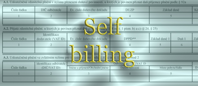 Kontrolni hlaseni - Self billing