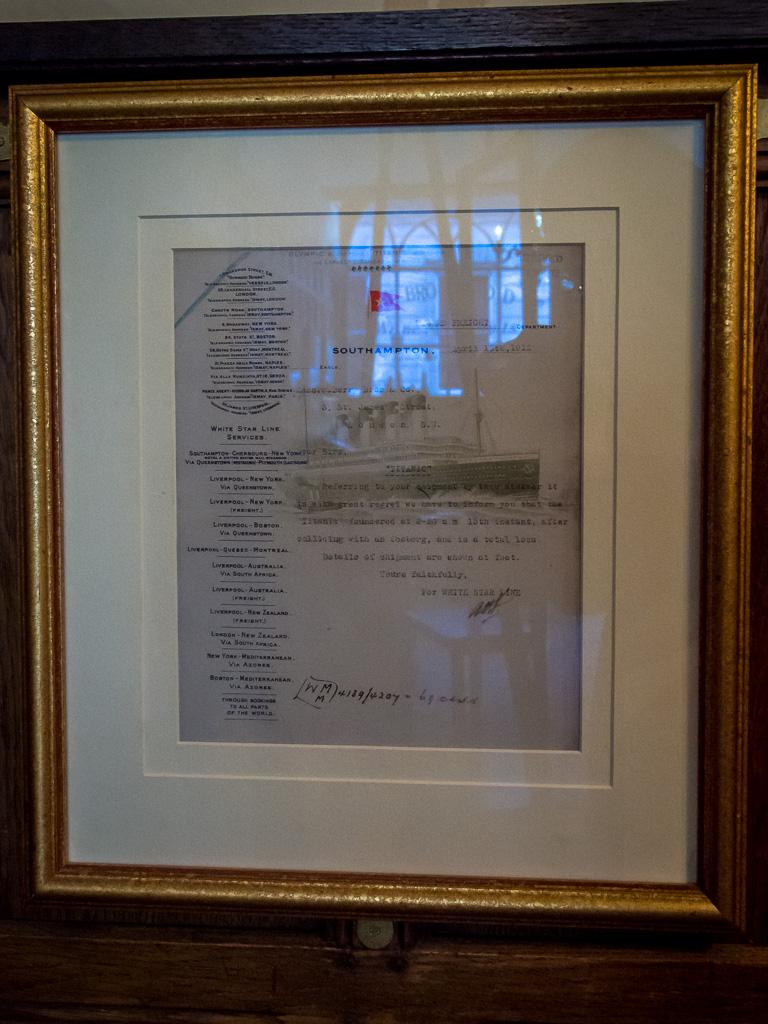 RMS Titanic telegram