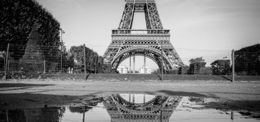 Reflections of the Eiffel Tower