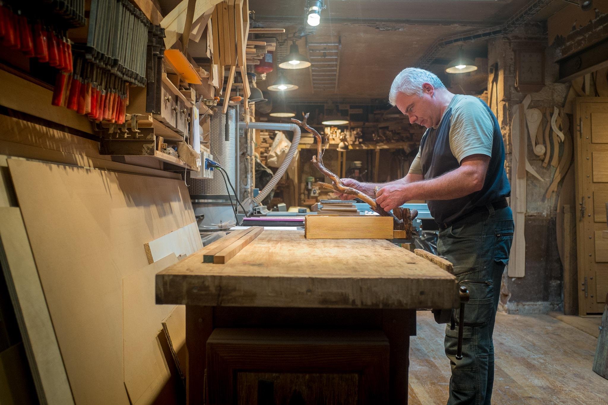 Woodworker in Paris