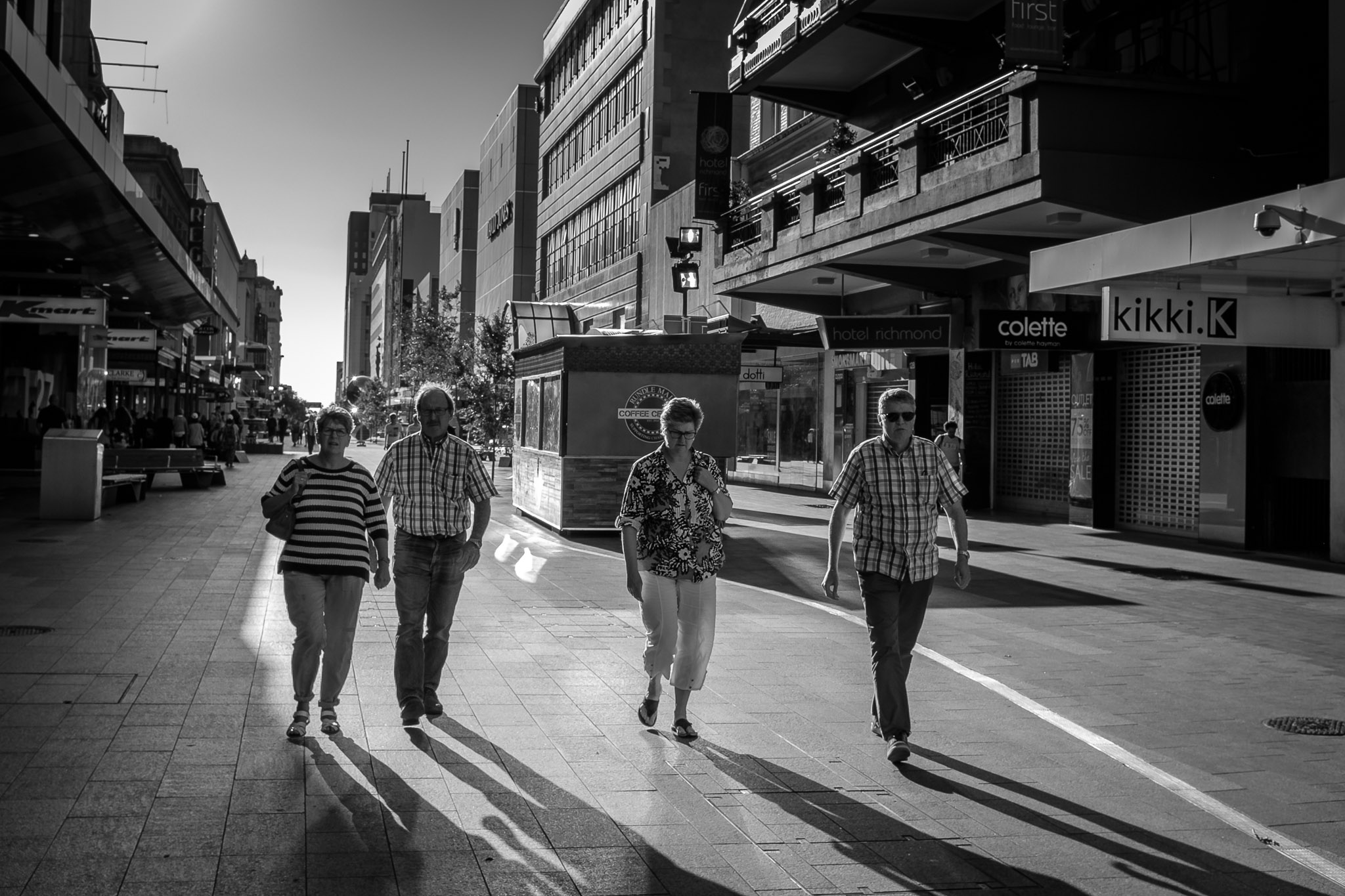 Walking in Rundle Mall, South Australia