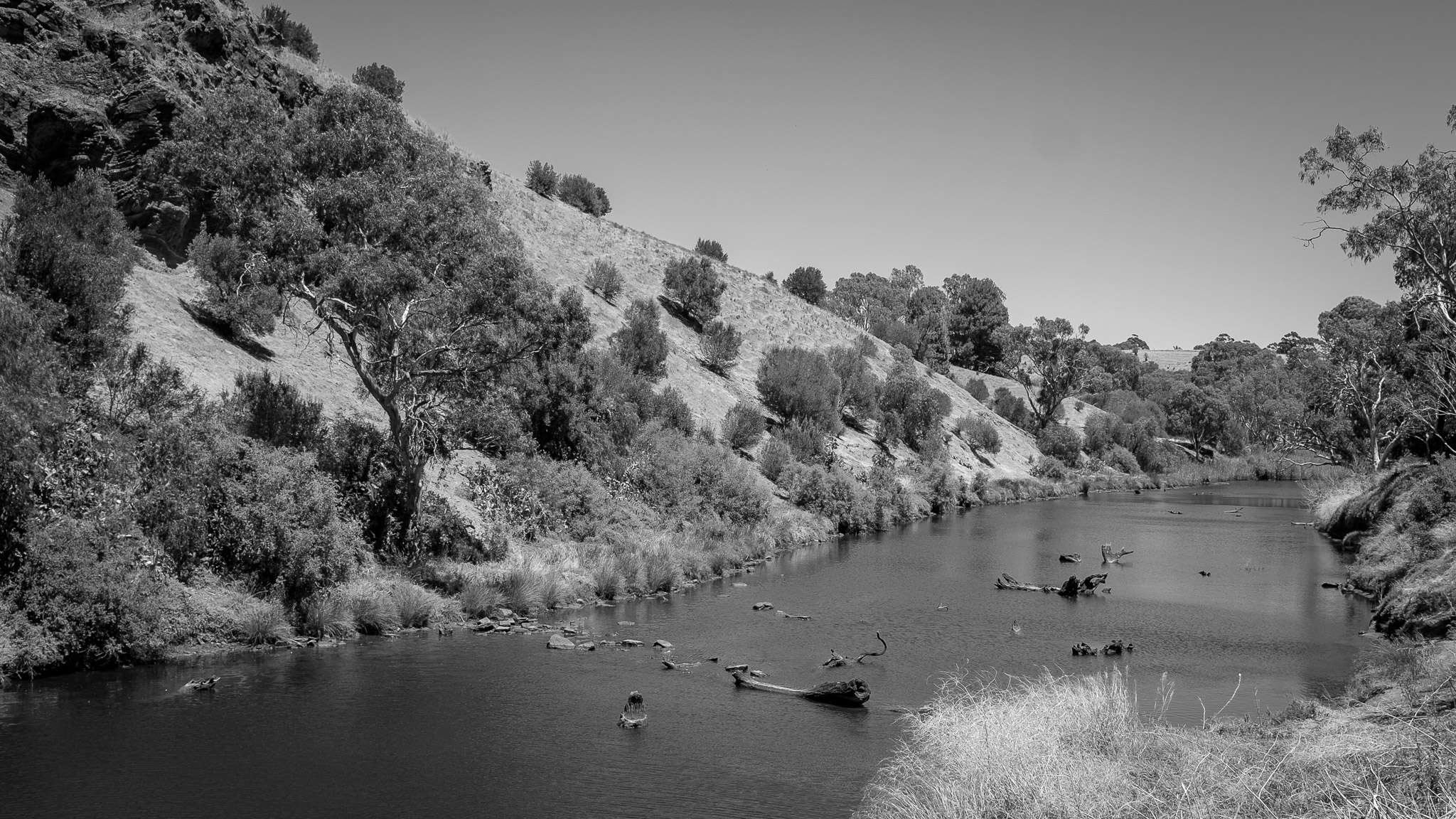 River scene at Old Noarlunga, South Australia