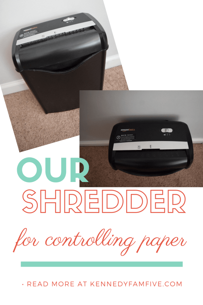 amazon basics paper shredder