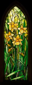 Gothic Daffodil stained glass pattern