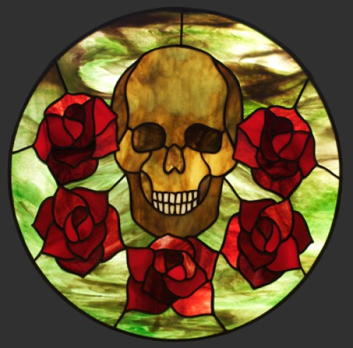 Skull No 2 Stained Glass Pendant © David Kennedy 2011