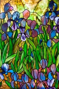 Irises at Slade pattern