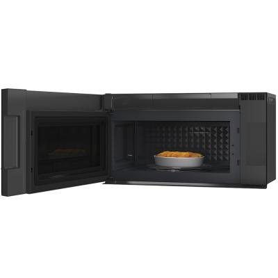 30 ge cafe 2 1 cu ft over the range microwave oven with wifi connect modern glass cvm721m2ncs5