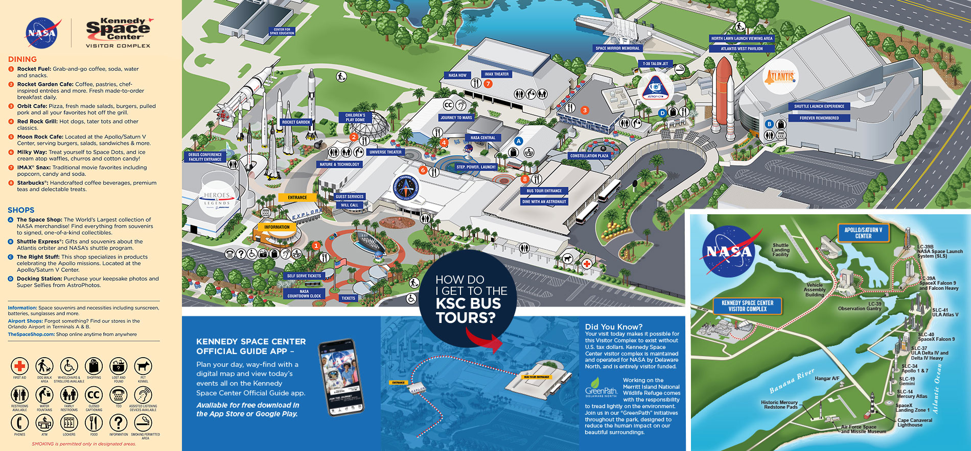 Kennedy Space Center Visitor Complex Maps