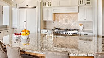 Granite Countertop Installation Marble Travertine Backsplash