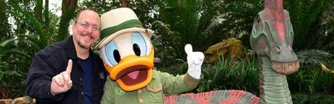Donald Duck meet and greet at Animal Kingdom in Walt Disney World