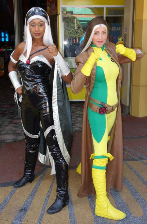 Storm and Rogue at Universal Islands of Adventure 2012
